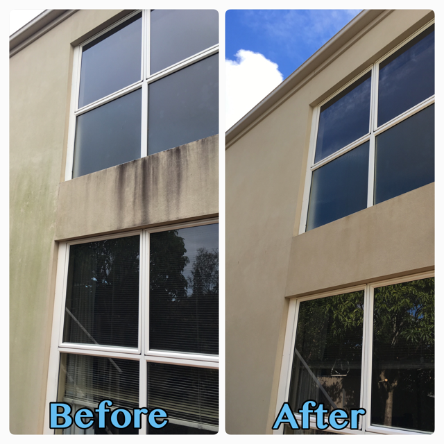 BEFORE AND AFTER HOUSE EXTERIOR PRESSURE CLEAN