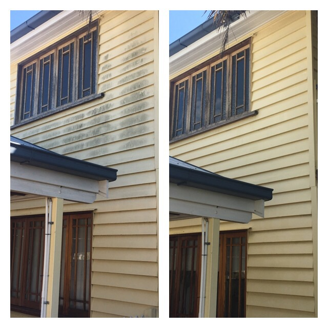 BEFORE AND AFTER PHOTO HOUSE WASH