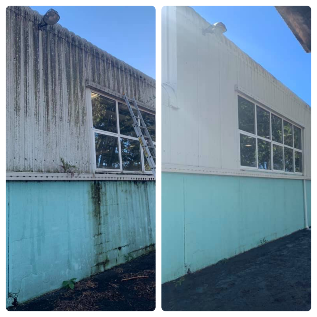 COMMERCIAL BUILDING OUTSIDE CLEANING